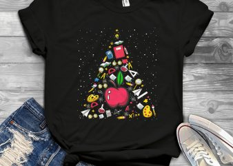 Teacher Christmas Tree t shirt designs for sale