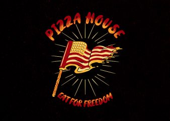 pizza house Graphic t-shirt design