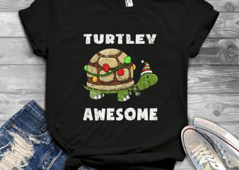 Turtley awesome Christmas t shirt design for download