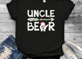 Uncle Bear Christmas design for t shirt