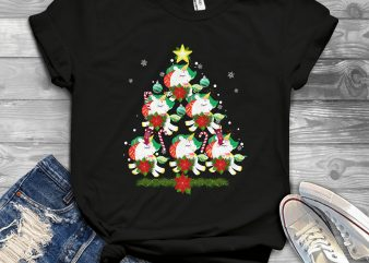 Unicorn Christmas Tree buy t shirt design for commercial use
