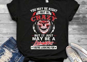 Funny Cool Skull Quote – 1614 vector t shirt design for download