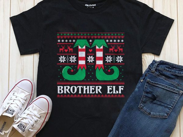 Brother elf png psd t-shirt design graphic