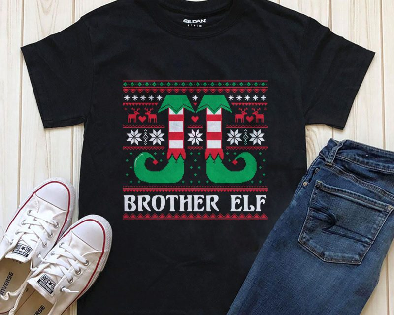 Brother elf png psd t-shirt design graphic tshirt-factory.com