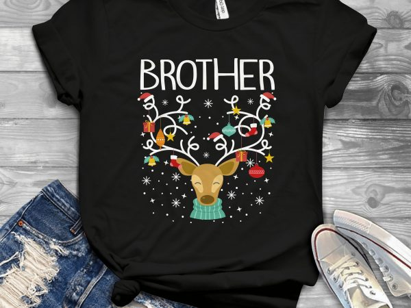 Brother Reindeer t shirt design for purchase