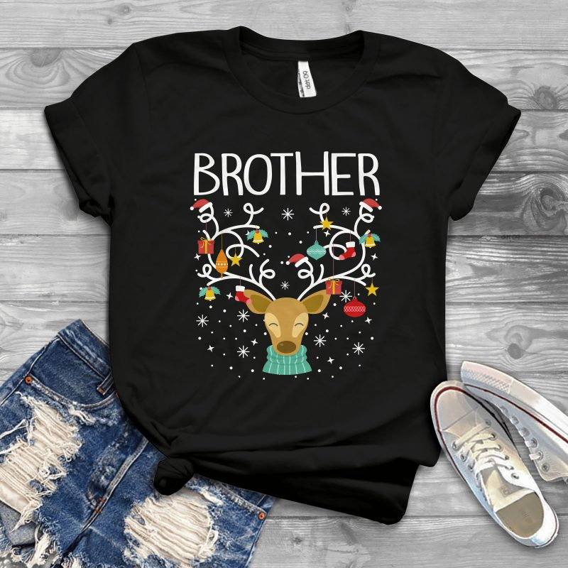 Brother Reindeer t shirt designs for printful
