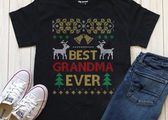 Best Grandma Ever T-shirt design PNG, commercial use t-shirt design