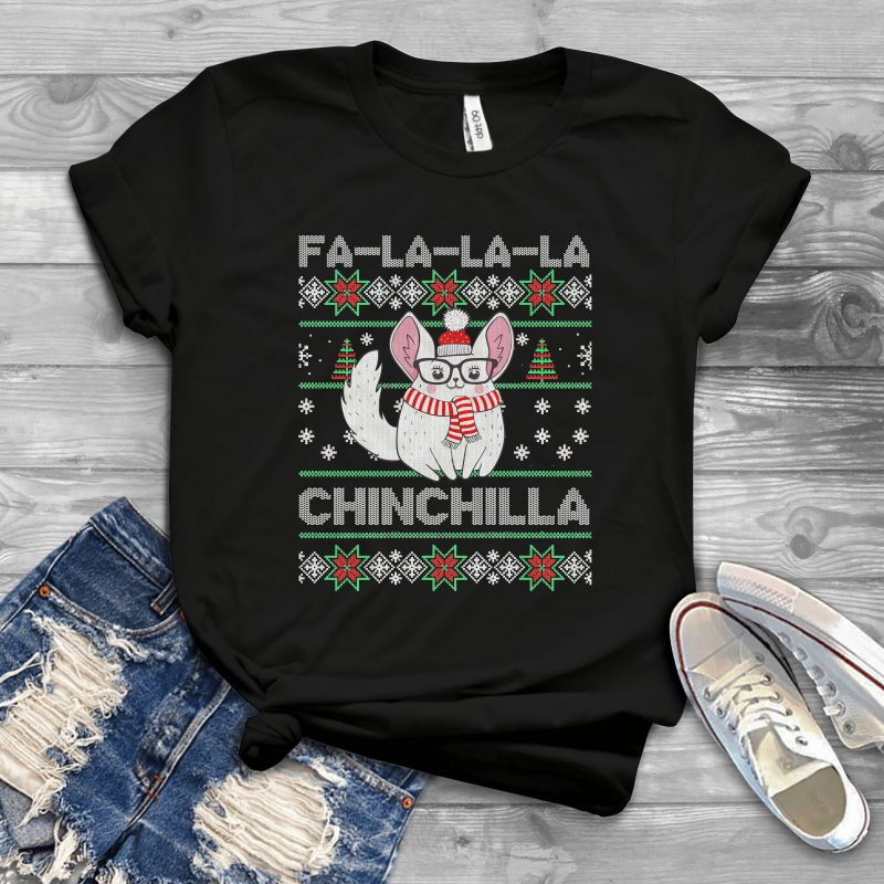Chinchilla Ugly Sweater t shirt designs for printful