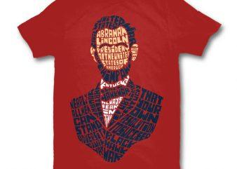 Abraham Lincoln graphic t-shirt design