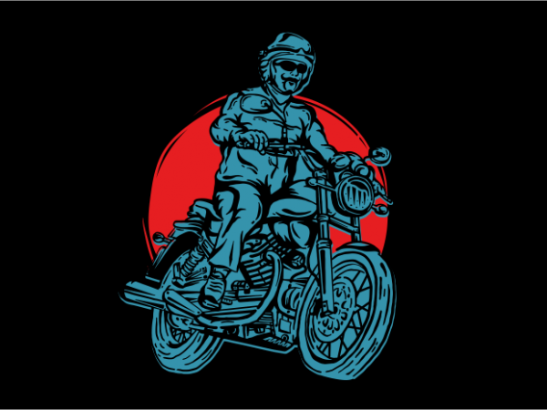 American Legend Motorcycle print ready vector t shirt design