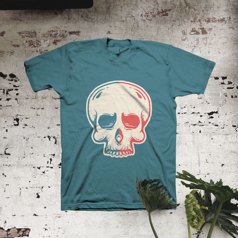 Back to Skull vector t shirt design