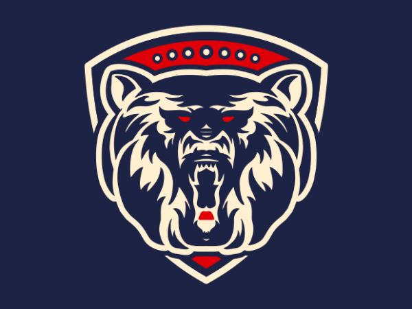 Be Stronger Bear t shirt design png
