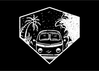 Beach Hunter t shirt template