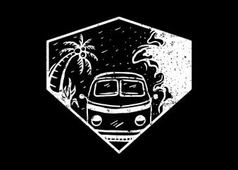 Beach Hunter t shirt design png