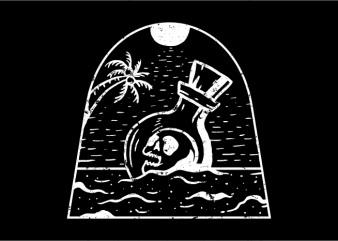 Beach to Death t shirt design for purchase