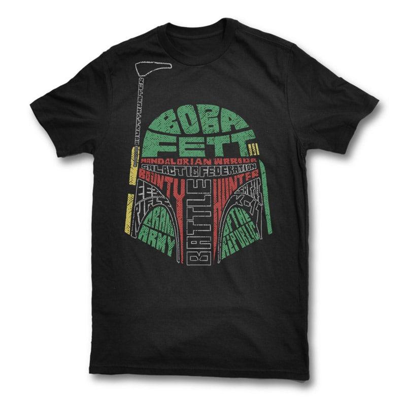 Boba Fett t shirt design template