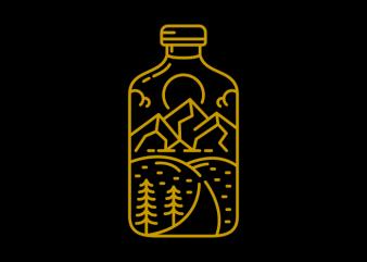 Bottle Adventure buy t shirt design for commercial use