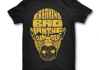 Breaking Bad design for t shirt t shirt design template