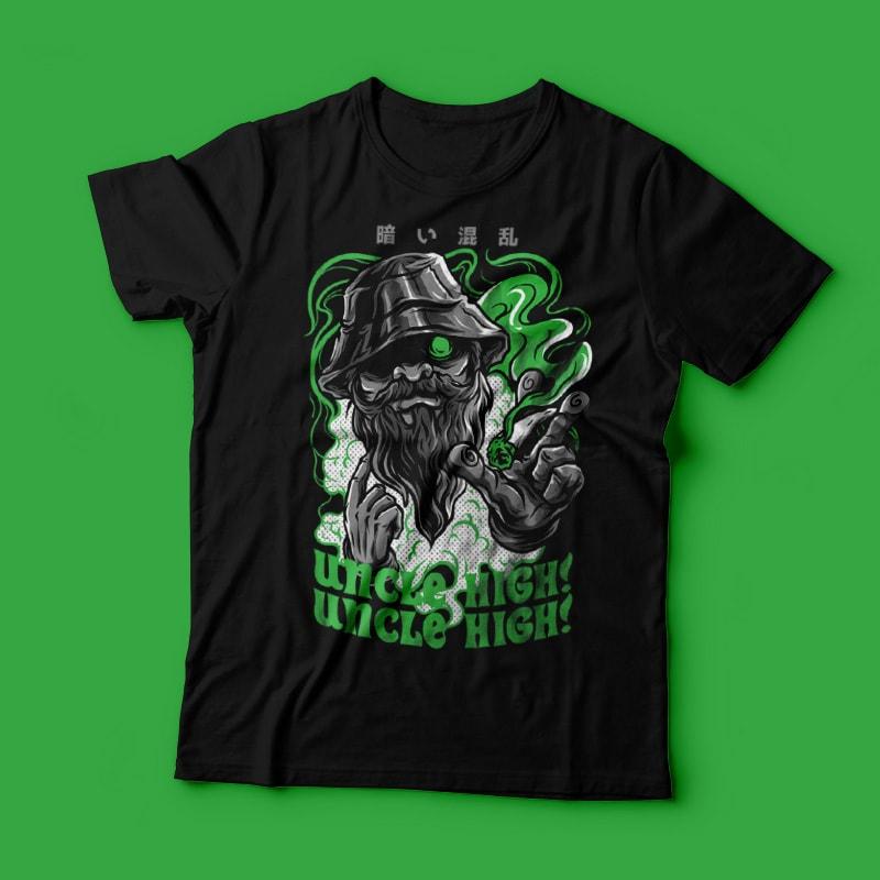 Uncle High! T-Shirt Design vector t shirt design
