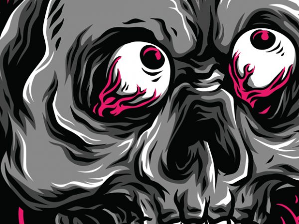 Birthday Skull T-Shirt Design Template