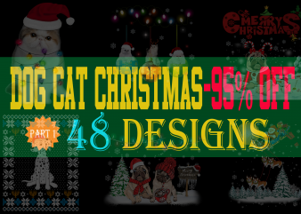 Dog Cat Christmas Special Bundle – 48 Designs