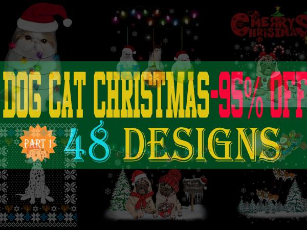 Dog Cat Christmas Special Bundle – 48 Designs