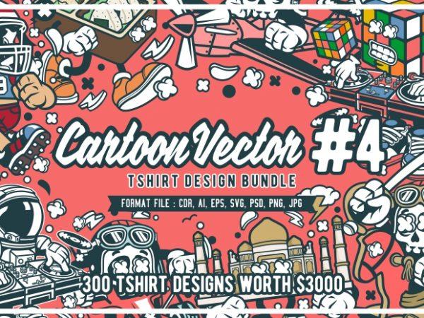 300 cartoon vector tshirt designs bundle #4