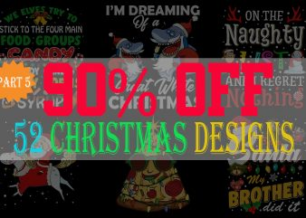 SPECIAL CHRISTMAS BUNDLE PART 5- 52 EDITABLE DESIGNS – 90% OFF – PSD, PNG AND FONT – LIMITED TIME ONLY!