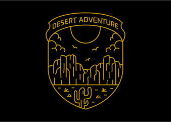 Desert Adventure t shirt vector illustration