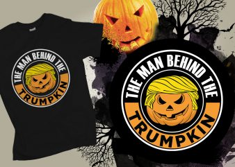 The mand behind the trumpkin vector t-shirt design for commercial use