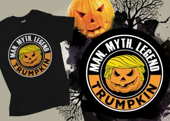 Trumpkin Man Myth Legend Halloween T-shirt Design