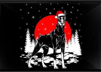 Doberman t shirt vector illustration