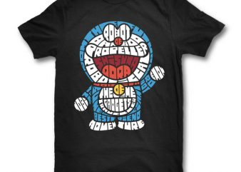 Robotic Cat t shirt design template