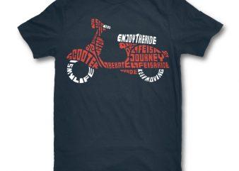 Enjoy The Ride graphic t-shirt design