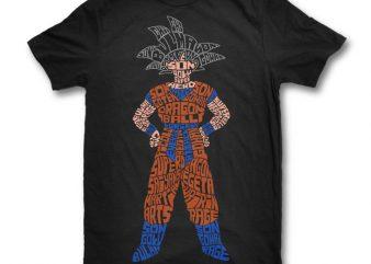 Goku t shirt design template