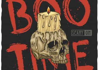 Boo time vector t-shirt design