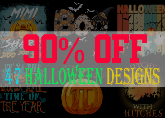 SPECIAL HALLOWEEN BUNDLE – 47 EDITABLE DESIGNS – 90% OFF-PSD and PNG – LIMITED TIME ONLY!