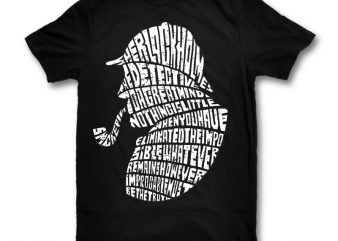 Holmes graphic t-shirt design