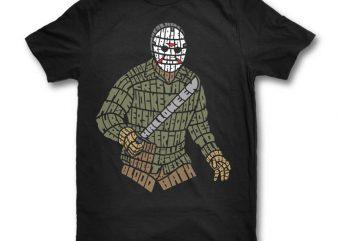 Jason graphic t-shirt design