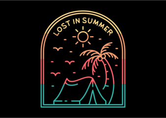 Lost in Summer design for t shirt