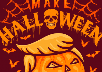 Make Halloween Scary Again tshirt design vector