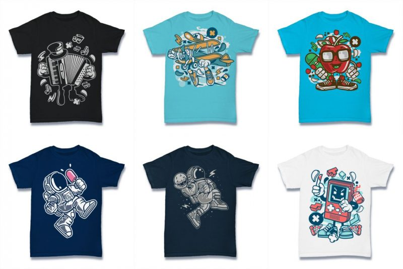 100 Vector Tshirt Designs Bundle