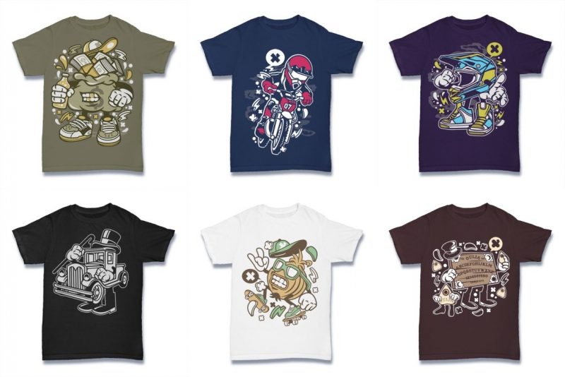 100 graphic Tshirt Designs Bundle