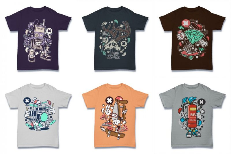 100 Tshirt Designs Bundle