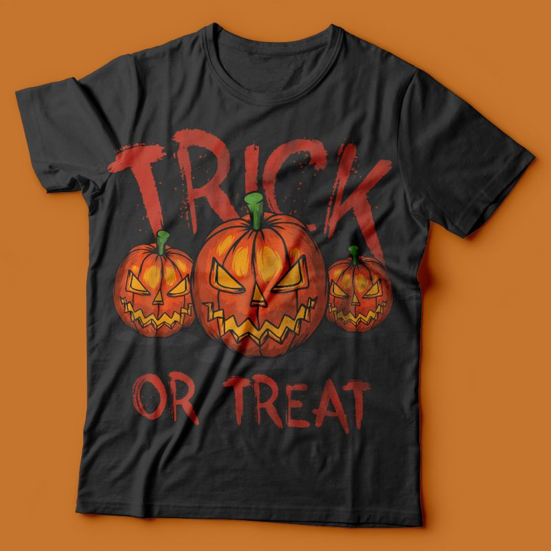 Trick or treat vector t-shirt design t shirt designs for sale