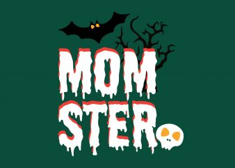 Momster Halloween t shirt designs for sale
