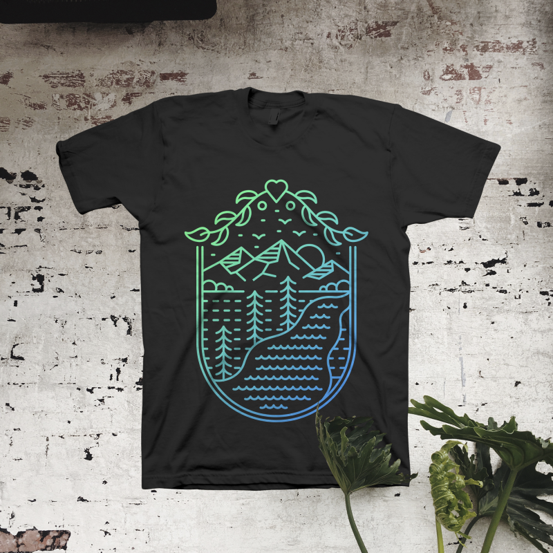 Natural Heritage t shirt designs for merch teespring and printful