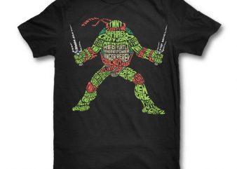 Ninja Turtle shirt design png commercial use t-shirt design