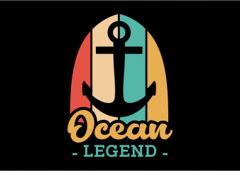 Ocean Legend vector t-shirt design for commercial use