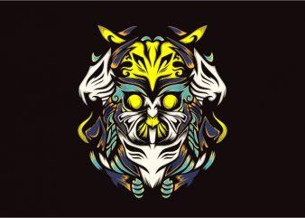 Owlzher vector t-shirt design template